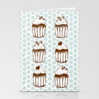 Retro Cupcakes Stationery Cards