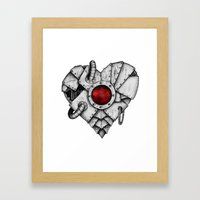 Heart - Mech Framed Art Print