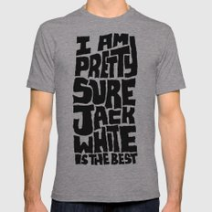 Jack White Mens Fitted Tee Athletic Grey SMALL