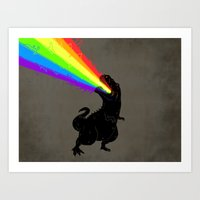 Technicolour Rex Art Print