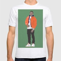 GUSTAVO FRING MODERN OUTFIT -  BREAKING BAD Mens Fitted Tee Ash Grey SMALL