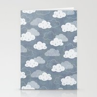 clouds Stationery Cards featuring RAIN CLOUDS by Daisy Beatrice
