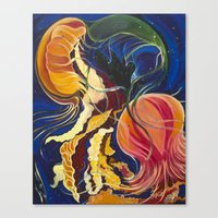 Jellyfish in the Ocean Canvas Print
