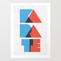 Karate Circuitry Art Print