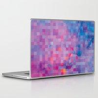 pixel Laptop & iPad Skins featuring Pixel by Marta Olga Klara