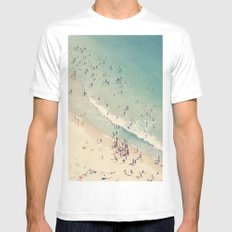 beach SMALL Mens Fitted Tee White