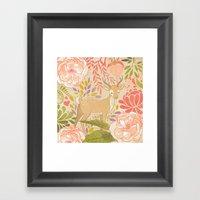 Garden Deer Framed Art Print
