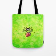 Strawberry-Spider Tote Bag