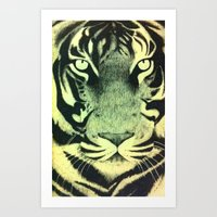 Be a Tiger (Yellow) Art Print