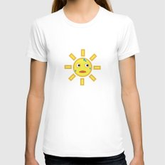 sun Womens Fitted Tee White SMALL