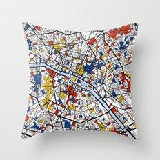 Paris Mondrian Throw Pillow