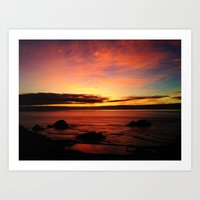 Sutro Baths Sunset Art Print