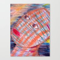 Plaid Head2 Canvas Print