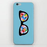 Map 45 Glasses On Sky Bl… iPhone & iPod Skin