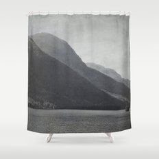 In the Shadows of Mountains Shower Curtain