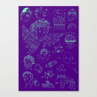 Space Sketch Canvas Print