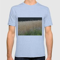 Field of summer Mens Fitted Tee Athletic Blue SMALL