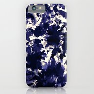 iPhone & iPod Case featuring Abstract Floral In Deep … by Clemm