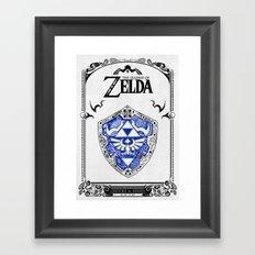 Zelda Legend - Hylian Sh… Framed Art Print