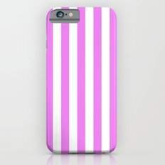 Vertical Stripes (Violet/White) iPhone 6 Slim Case