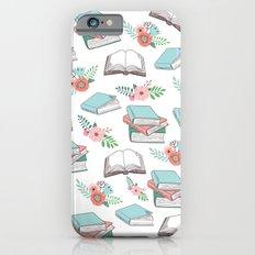 Books & Flowers Print iPhone 6 Slim Case