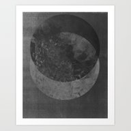 TWO MOON Art Print