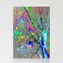 Digital Tree Neon Stationery Cards