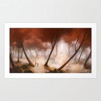 Hansel & Gretel (Wide Version) Art Print