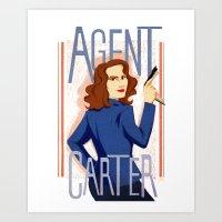 Agent Carter Art Print