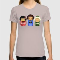 Kokeshis (Japanese Dolls… Womens Fitted Tee Cinder SMALL