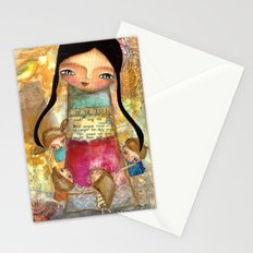 Music - teacher and children Stationery Cards