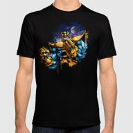 Thanos Mens Fitted Tee Black SMALL