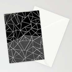 Ab Half and Half Black Stationery Cards