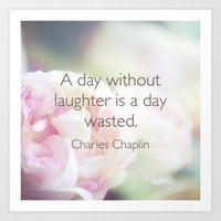 quotes Art Prints featuring Quotes by liberthine01