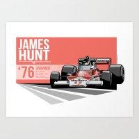 James Hunt - 1976 Jarama Art Print