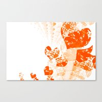 Heart - Orange Canvas Print