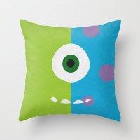 Monsters - Minimalist Po… Throw Pillow