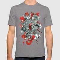The seven deadly sins Mens Fitted Tee Tri-Grey SMALL