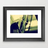 Green Card Framed Art Print