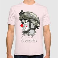 Clown To Stop Wars Mens Fitted Tee Light Pink SMALL
