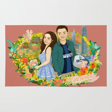 Custom illustration for a couple Rug