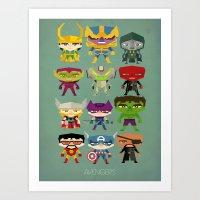 Avengers And Villains Art Print