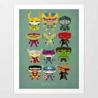 avengers and villains Art Print