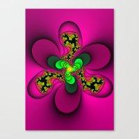 Toxic Flower Canvas Print