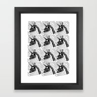 Framed Art Print featuring Los Muerto Unicorns by That's So Unicorny