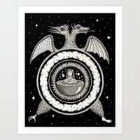 Two-Headed Hermetic Incu… Art Print