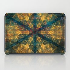 Tribal mandala in blue and gold iPad Case