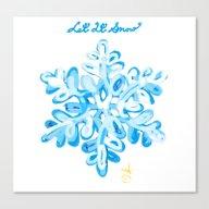 Let It Snow Snowflake Pa… Canvas Print