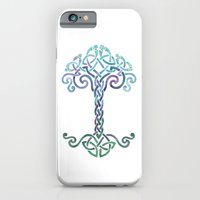 iPhone & iPod Case featuring Woven Tree of Life - Cool by Claire Astra