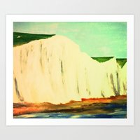 White Chalk Cliffs Art Print